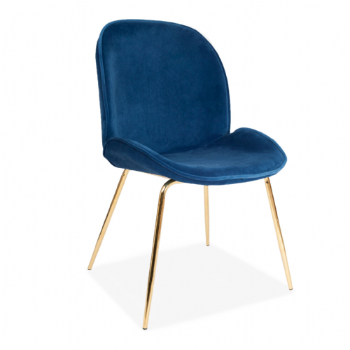 x2 Mmilo Journey Chair with Blue Seat and Gold Legs